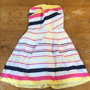 striped Lilly Pulitzer sweetheart strapless dress